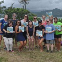 Padilla-Gamiño and teachers attending a coral reef workshop in Hawaii.