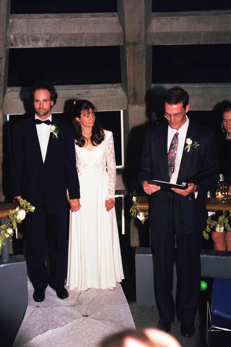 Universal Life Church Reverend Paul Hershberger, Blake and Evi (Photo Andrew Hendry, MS, 1995; PhD, 1998)