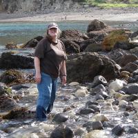 Pam on shoreline
