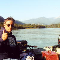 Jeff at the Squamish River, British Columbia, 1996.