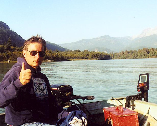Jeff at the Squamish River, British Columbia, 1996.