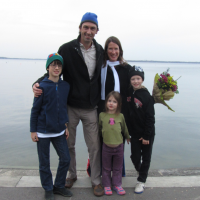 The family celebrating Sarah's dissertation completion at the University of Wisconsin - Madison in November 2014