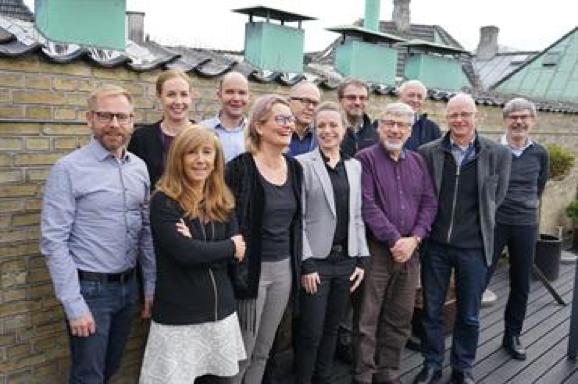 With fellow members of the ICES Bureau in 2018 (Copenhagen)