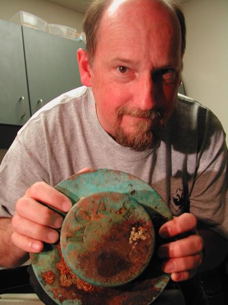 After finding the Kad'yak artifact, Kodiak, 2004.