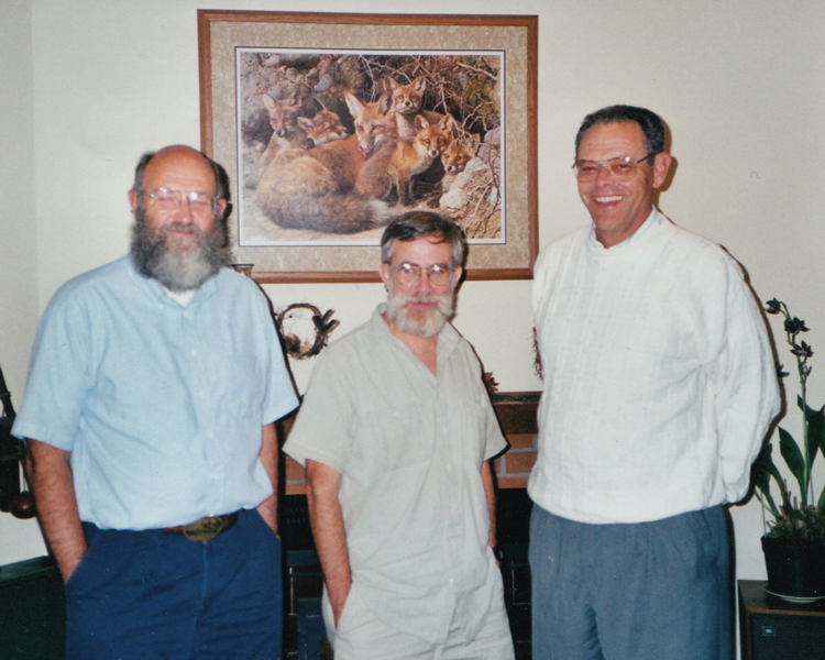 Chuck Fowler (MS, 1966; PhD, 1973), Bill Lenarz (MS, 1966; PhD, 1969) and Gary in 2000