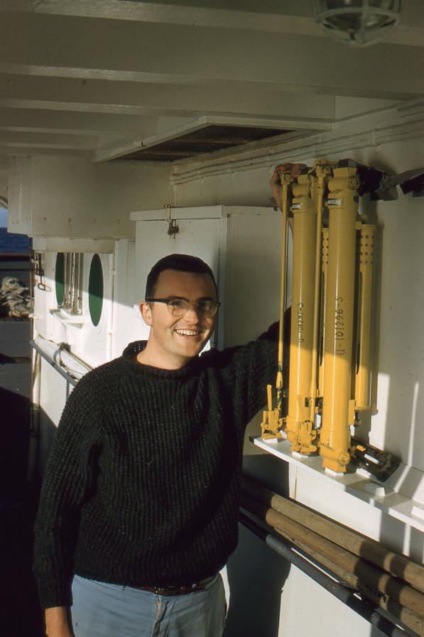 Bob aboard the ship John N. Cobb