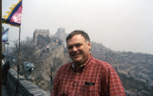 At the Great Wall of China in 1999