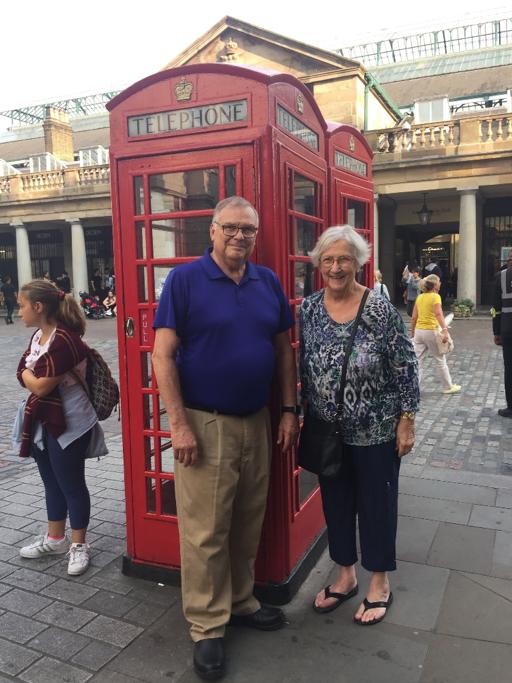Bob and Carolan in London, fall of 2018