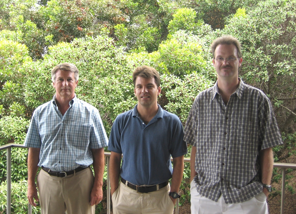 Left to right: IATTC Tuna-Billfish Group's Chief Scientist Rick Deriso; stock assessment scientists Alex da Silva and Mark Maunder, 2007.