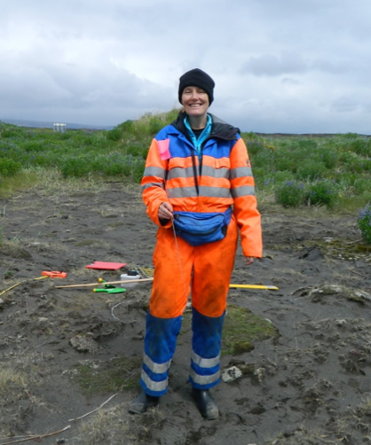 My summer office in southern Iceland, where I study native insect herbivores on Nootka lupine (background), an invasive plant spreading throughout Iceland