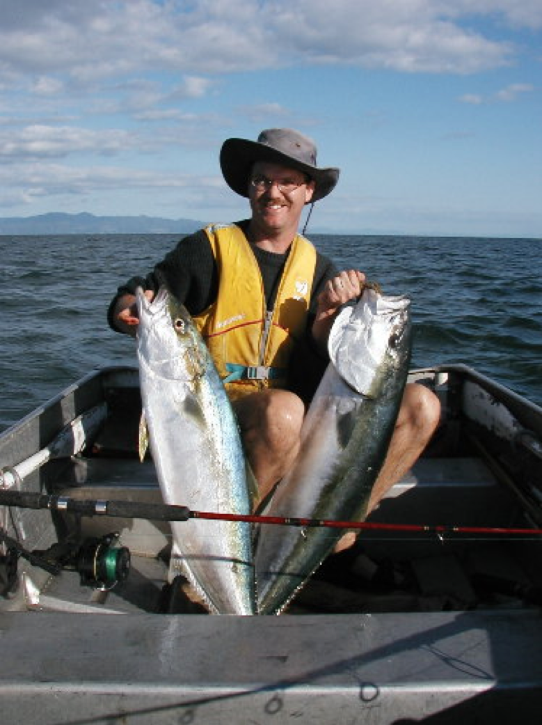Mark with the results of his recreational fishing efforts.