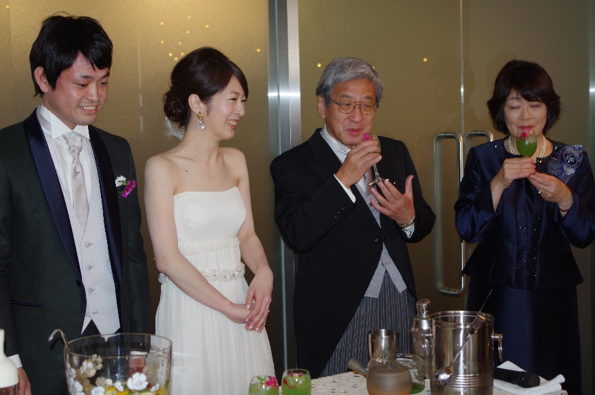 Wedding of Yoko with Sanami next to me (2016)