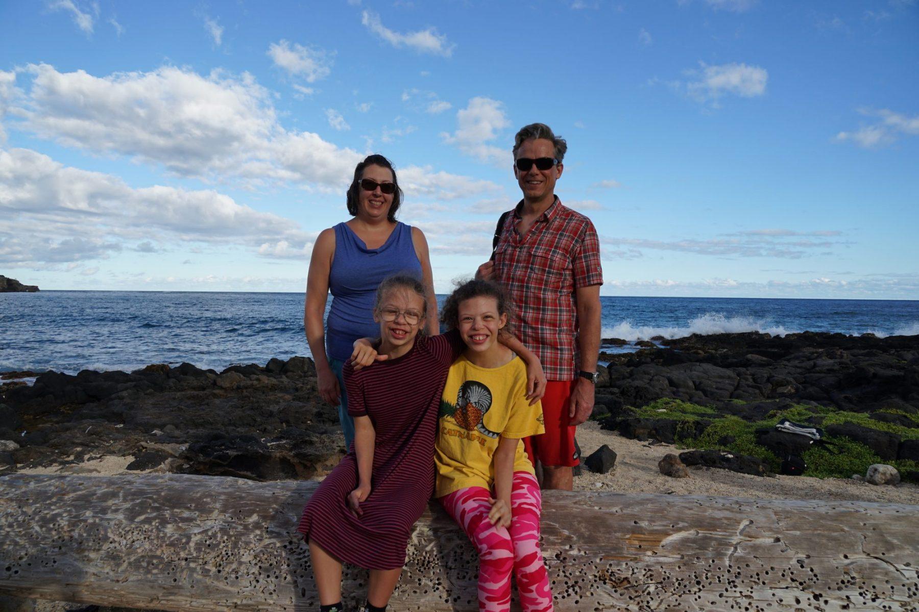The Scheuerell family in Kauai