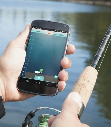 iBobber technology syncs with an angler's smart device.ReelSonar