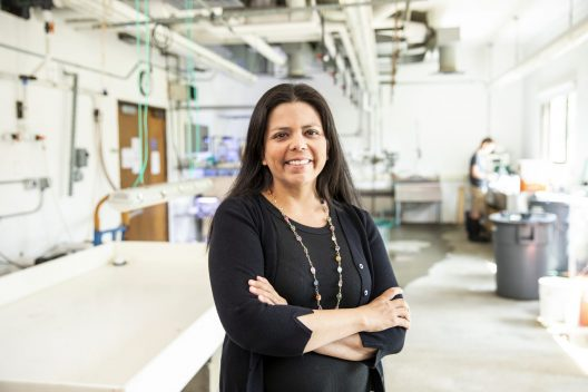 Jacqueline Padilla-Gamiño in her lab