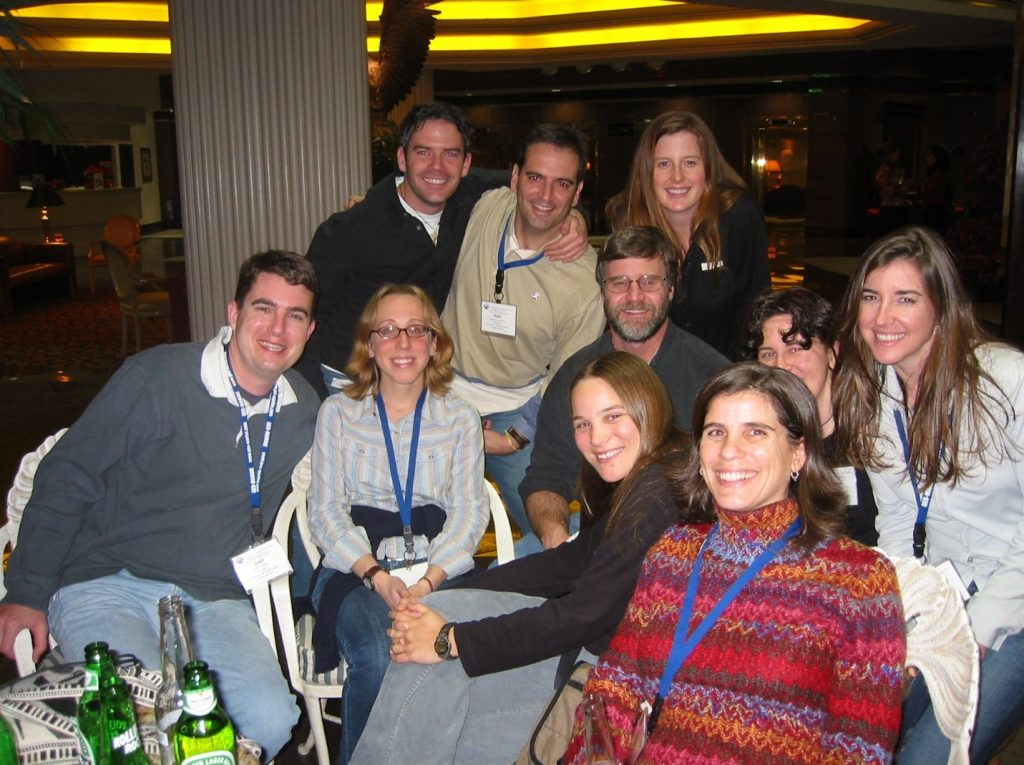 Members of the VanBlaricom lab (and a couple of SAFS' friends) (December 2003 at the 15th Biennial Conference of Marine Mammals in Greensboro, North Carolina
