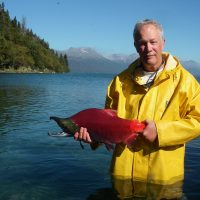 Tom Quinn with Sockeye Salmon
