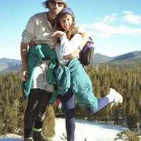 Blake and Evi pose during a hike in Colorado in 1994, back when Blake had hair