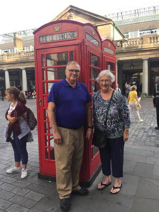 Bob and Carolan in London, fall of 2018