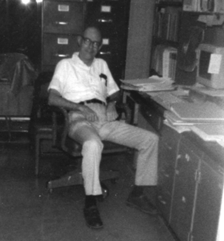 Bill in his office at IATTC (circa 1978)