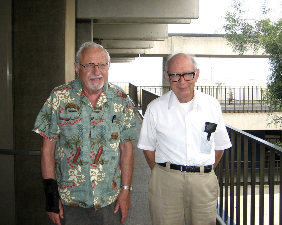 Bill (right) and Witek Klawe (left) at IATTC.