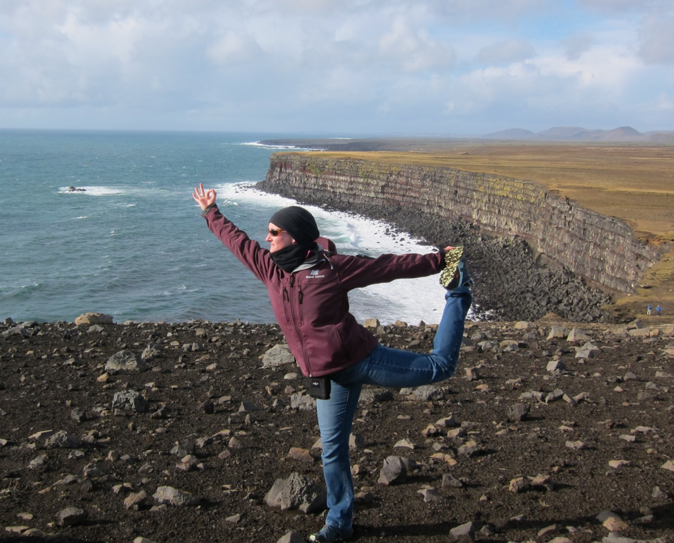 Dancer pose on the cliff (Iceland, 2009)