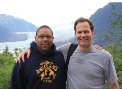 With fellow SAFS grad Jamal Moss (MS, 2001; PhD, 2006) in Alaska