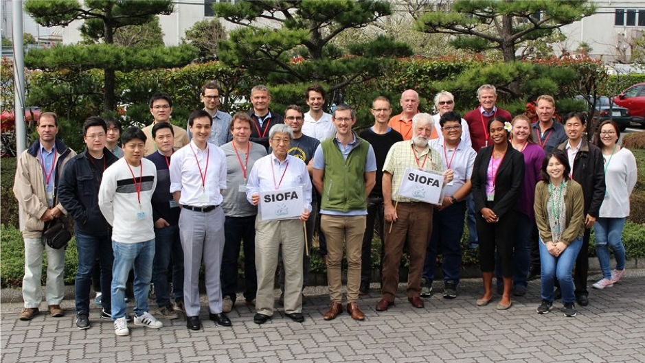 SIOFA stock assessment working group meeting (Yokohama) (March, 2019) Australia, Cook Islands, EU, Korea, Japan, France (overseas territories), Mauritius, Thailand, Seychelles, Secretariat and observers (FAO, Industries and Environmental group) (Tom: center with the SIOFA flag)